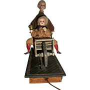 Wonderful Antique German Doll Pull Toy