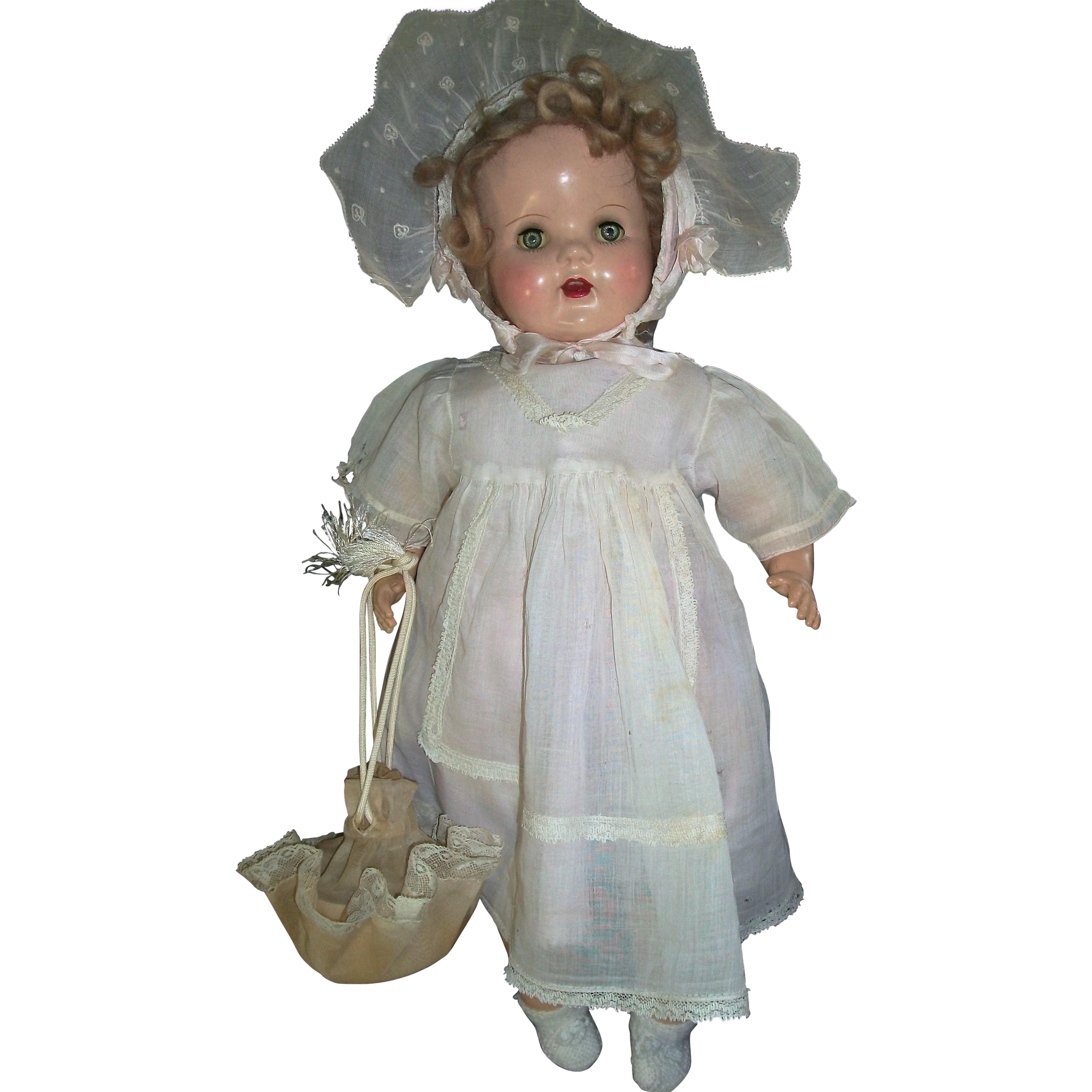 Adorable Vintage Doll Draw String Purse Joys Of