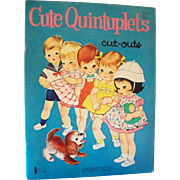 Cute Quintuplets Cut-Outs, Vintage Uncut Paper Dolls