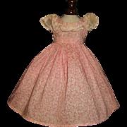 Pretty Vintage Pink and White Fashion Doll Dress.