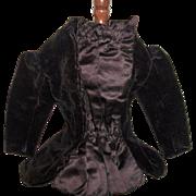 Fabulous Purple Velvet Antique  French Fashion Coat - Red Tag Sale Item