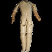 Antique Oil Cloth Doll Body for a German Shoulder Head