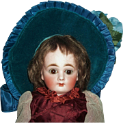 Cute Blue Velvet Doll Hat - Red Tag Sale Item