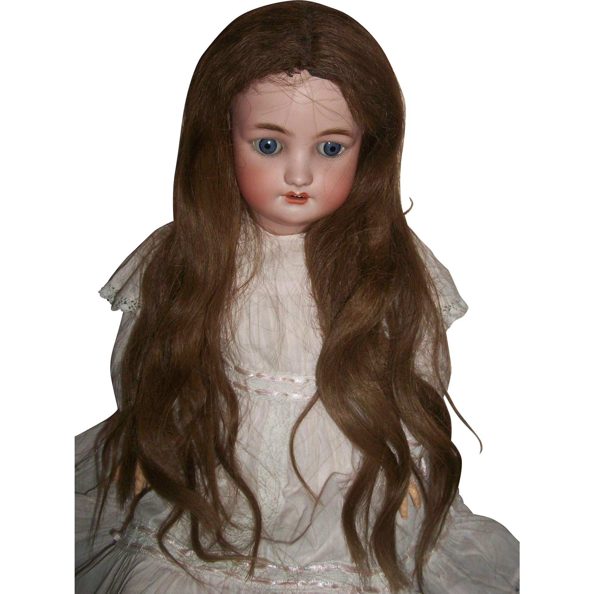 Wigs And Antique Doll 115