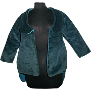 Wonderful Vintage Blue Velvet Doll Coat, Character