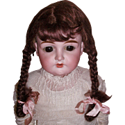Nice Early Braided Mohair Doll Wig