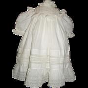 Beautiful Antique Large Batiste Doll Dress