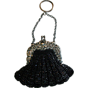 Lovely Antique Fashion Doll Purse, Bostonia / Ger Silver