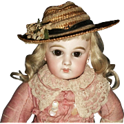 Wonderful Antique Straw Doll Hat