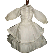 Lovely Antique White  Small Fashion Doll Dress w Petticoat
