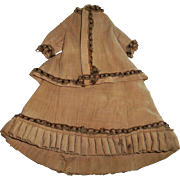 Wonderful Antique Small French Fashion Doll Suit w Petticoat