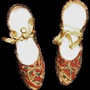 Wonderful Pair of Vintage Boudoir Doll Shoes
