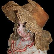 Wonderful Antique Straw Doll Hat