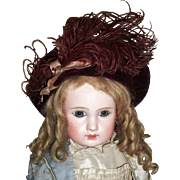 Lovely Antique Maroon Beret for Your French / German Bebe