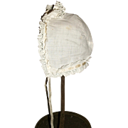 Sweet Small Antique Doll Bonnet