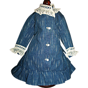 Wonderful Vintage Doll Dress, China, Papier Mache, Fashion