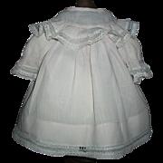Pretty Antique Pink Cotton Doll Dress