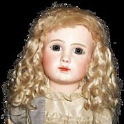 Nice Vintage Blonde Mohair Doll Wig, Bramble & Pinegar, French or German Bebe