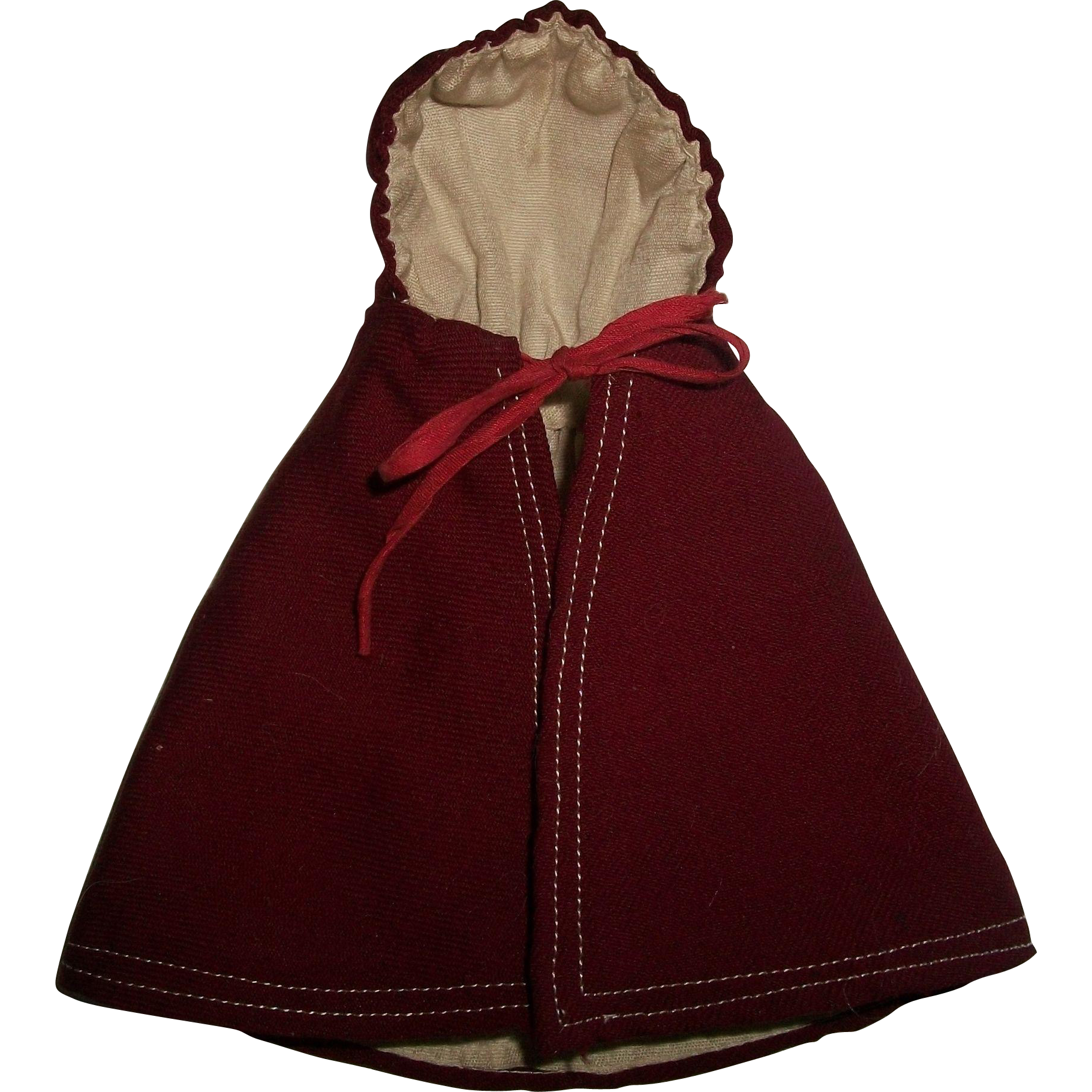 Nice early small doll hooded wool cape from for Small cape