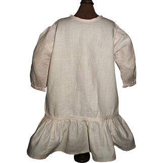 Sweet Early Pink Cotton Drop Waist Doll Dress