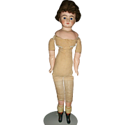 """Antique 25"""" Wax Lady Doll, For you to dress"""