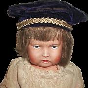 Adorable Antique Purple Velvet Doll Beret