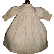 Sweet Early Small Pink and White Doll Dress