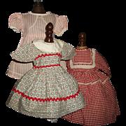 3 Nice Vintage Doll Dresses