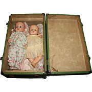 Vintage Trunk with Vogue Ginnette Dolls and Clothes