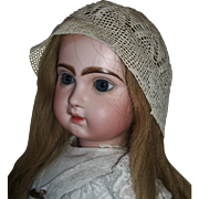Lovely Antique Crocheted Doll Bonnet