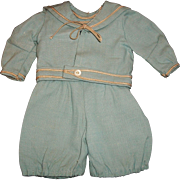 Sweet Vintage 2 Pc Mariner Suit for a Small Doll, TLC