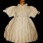 Wonderful Early Vintage Wool Knit Doll Dress