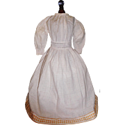Wonderful Cotton Calico Print Doll Gown, Papier Mache, China, Cloth