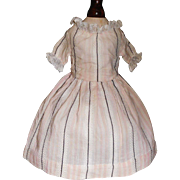 Early Pink and white Small Doll Dress