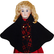 Fabulous Antique Wool Hooded Doll Cape