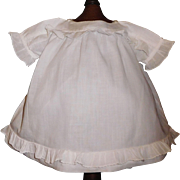 Sweet Antique White Cotton Doll Dress