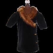 Velvet Fashion Doll Coat w Fur Collar
