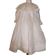 Lovely Antique Organdy Doll Dress. Large Kestner, Handwerck