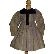 Antique Wool Doll Dress w Damage