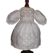 Nice Vintage Made Small White Doll Dress