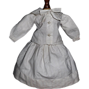 Cute Mariner Style Small White Cotton Skirt and Blouse