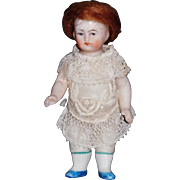 Cute Little Antique All Bisque, Doll House Size, Damaged