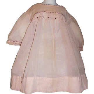Nice Pink Organdy Dress for a Large Doll