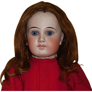 Nice Antique Brown Mohair Doll Wig, TLC