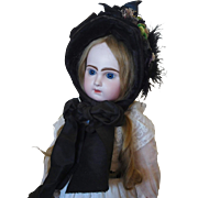 Fabulous Antique Velvet Hat for a Large Doll
