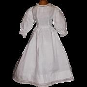 Lovely White Cotton Doll Dress, China, Fashion