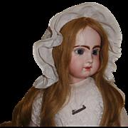 Adorable White Ruffled Antique  Doll Bonnet