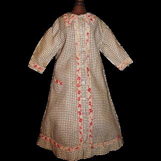 Fabulous Antique Doll  Dress / Wrap, Papier Mache, Greiner, China