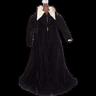 Lovely Early Black Velvet Fashion Opera Coat