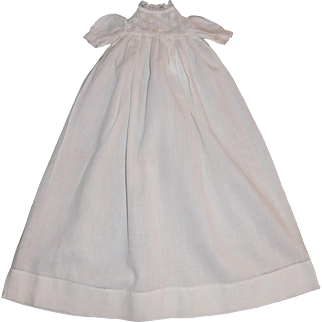 Tiny Antique Baby Doll Gown